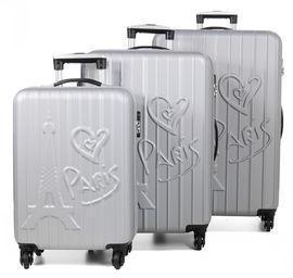 Ensemble 3 valises rigides Madisson Love Paris Silver gris WEhyYjVk