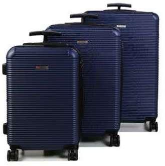Lot de 3 valises rigides Airtex Neptune 55, 65, 73 cm Bleu