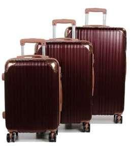 Ensemble 3 valises rigides Compagnie du Bagage Syracuse Argenté gris vU6fLX