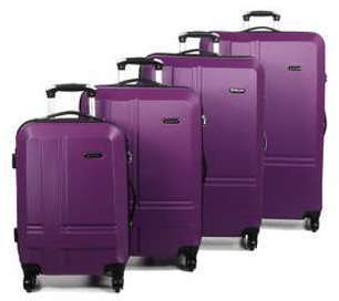 Ensemble 4 valises rigides Madisson Naples Violet