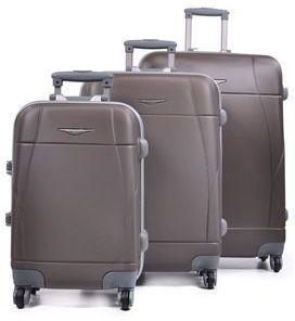 Ensemble 3 valises rigides Madisson Rosario 55, 65, 75 cm Coffee marron