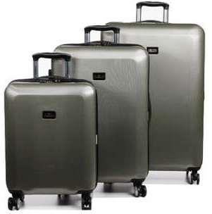 Set 3 valises souples Snowball Rome 56, 68, 77 cm Noir