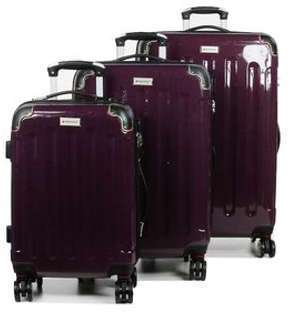 Ensemble 3 valises rigides Madisson Manchester Rouge