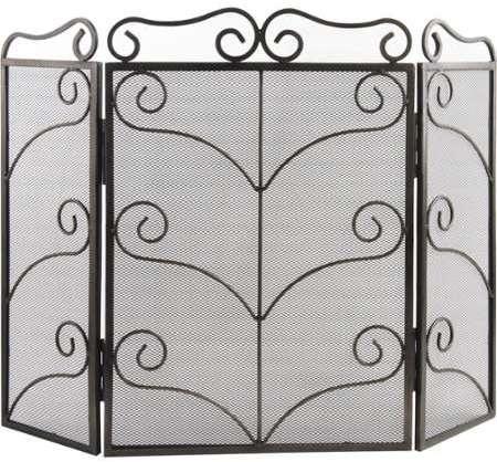 dixneuf pare feu en acier eloge grand h54 cm x l120 cm x p25cm pour chemin e. Black Bedroom Furniture Sets. Home Design Ideas