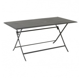 city table console de jardin pliante en acacia 75 130x65cm burano gris. Black Bedroom Furniture Sets. Home Design Ideas