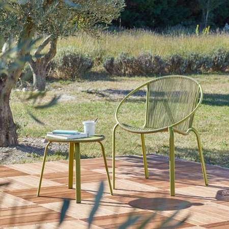 table basse de jardin ronde en