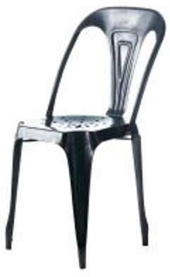 chaise en m tal blanc vieilli urban. Black Bedroom Furniture Sets. Home Design Ideas