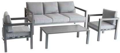 table basse de jardin en aluminium