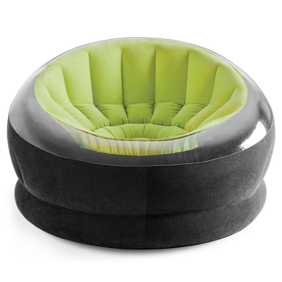 intex fauteuil gonflable et repose pied pop. Black Bedroom Furniture Sets. Home Design Ideas