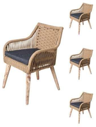 chaises bar quatuor de tissu de E9YHWDIe2