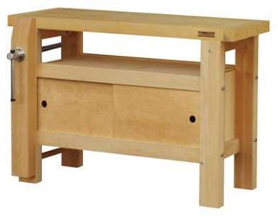 outifrance etabli bois 2m x 2 presses. Black Bedroom Furniture Sets. Home Design Ideas