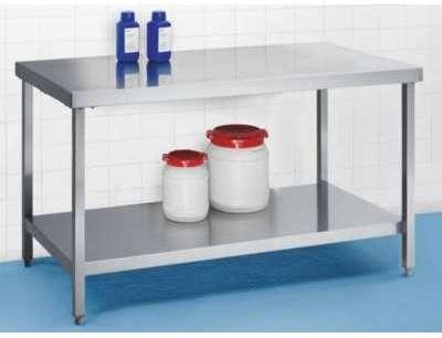 Table inox de travail centrale ou murale profondeur 600 mm for Table de travail en inox