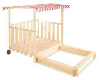 jardipolys bac sable carr en bois couvercle. Black Bedroom Furniture Sets. Home Design Ideas