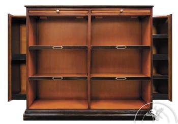 meuble biblioth que pin miel 2 portes de style anglais 38222. Black Bedroom Furniture Sets. Home Design Ideas