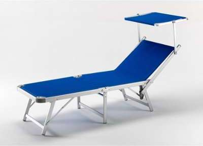 lit de plage valparaiso 30 1 pl ray bleu hevea 9946. Black Bedroom Furniture Sets. Home Design Ideas