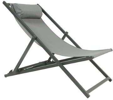 Homcom chaise longue pliante noir for Chaise longue pliante legere