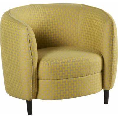 Little fauteuil design moutarde filaire for Fauteuil design moutarde