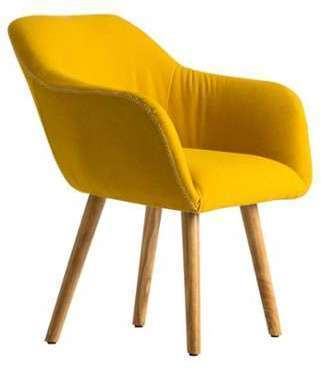 Little fauteuil design moutarde filaire - Fauteuil scandinave jaune moutarde ...