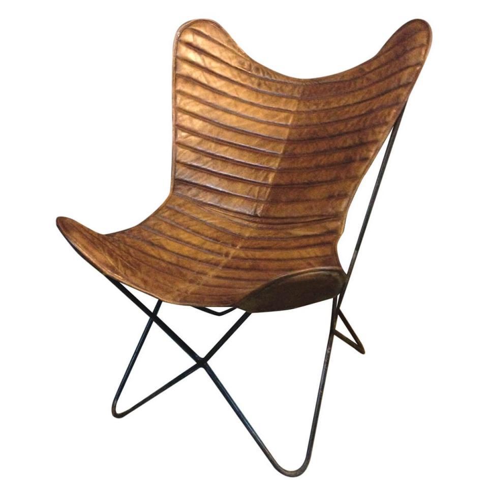 zago fauteuil butterfly toile de jute vintage. Black Bedroom Furniture Sets. Home Design Ideas