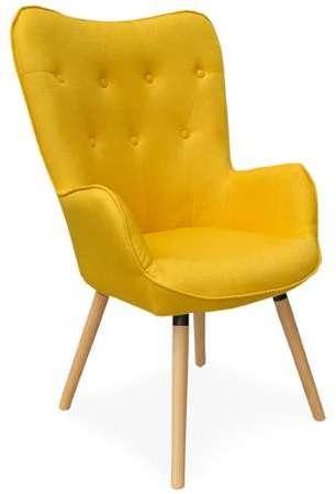 fauteuil fauteuil en en fauteuil tissu jaune en jaune tissu 3F15TluKJc