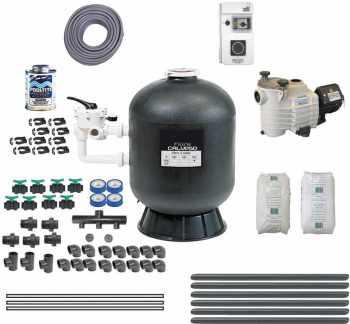 Trigano filtre sable 635 m3 h store for Pack filtration piscine