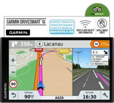 gps garmin drivesmart 61 se lmt s. Black Bedroom Furniture Sets. Home Design Ideas