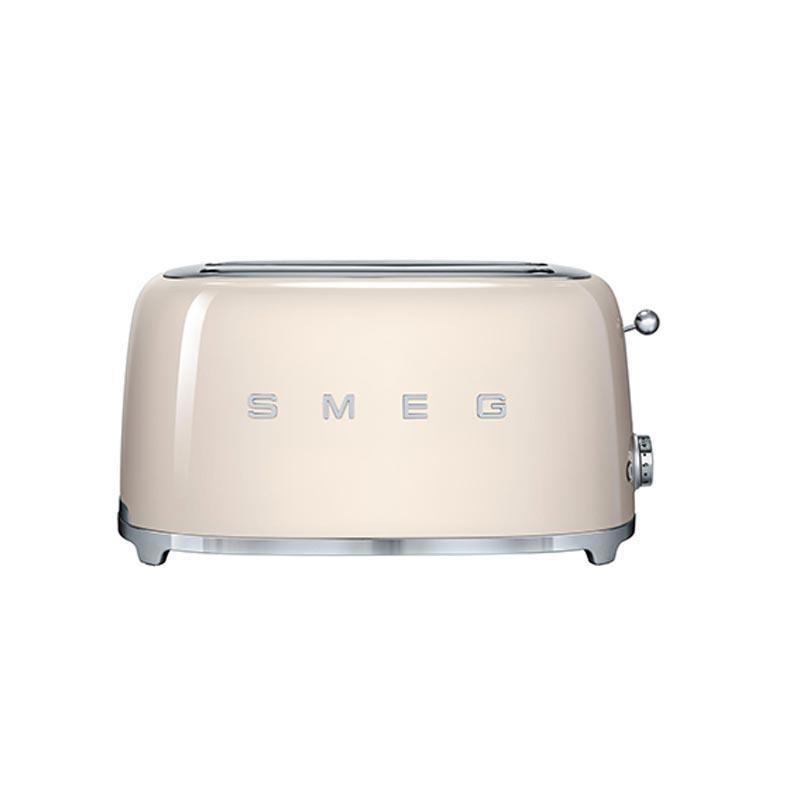 Smeg grille pain 4 fentes tsf02 cr me laqu 6 niveaux de brunissement 394x208x215cm - Grille pain smeg solde ...
