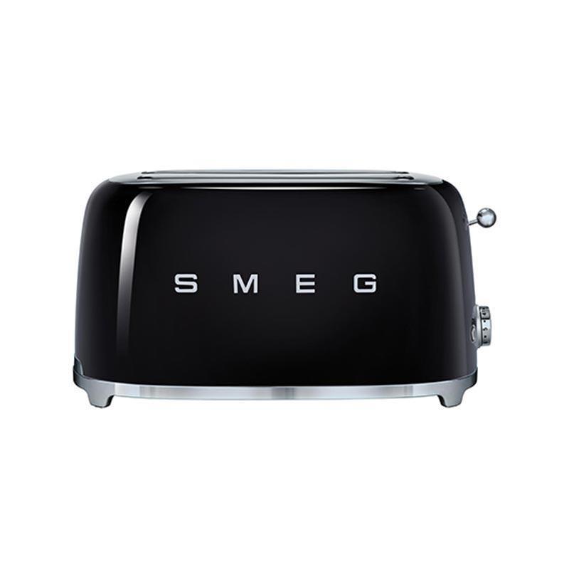 Smeg grille pain 4 fentes tsf02 noir laqu 6 niveaux de brunissement 394x208x215cm - Grille pain smeg solde ...