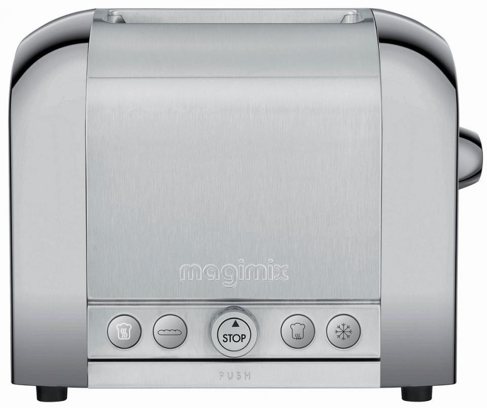grille pain magimix le toaster 2 inox bross brillant 2 fentes 11517. Black Bedroom Furniture Sets. Home Design Ideas