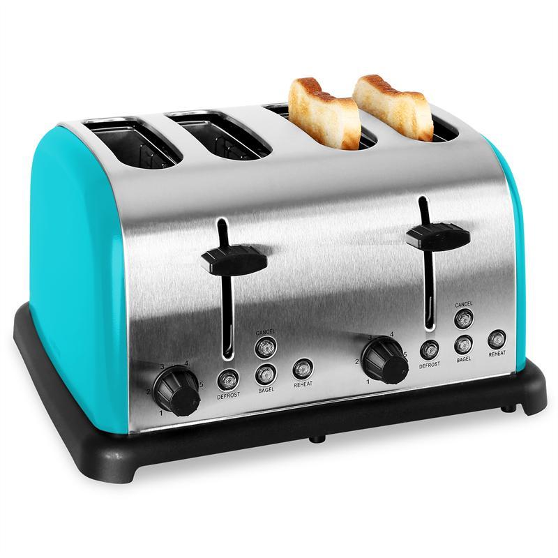 Klarstein TK-BT-211-T Grille pain Toaster 4 tranches acier 1650W ...