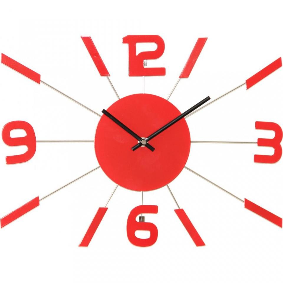 Horloge murale rouge multicolor with pendules de cuisine - Horloge cuisine pas cher ...