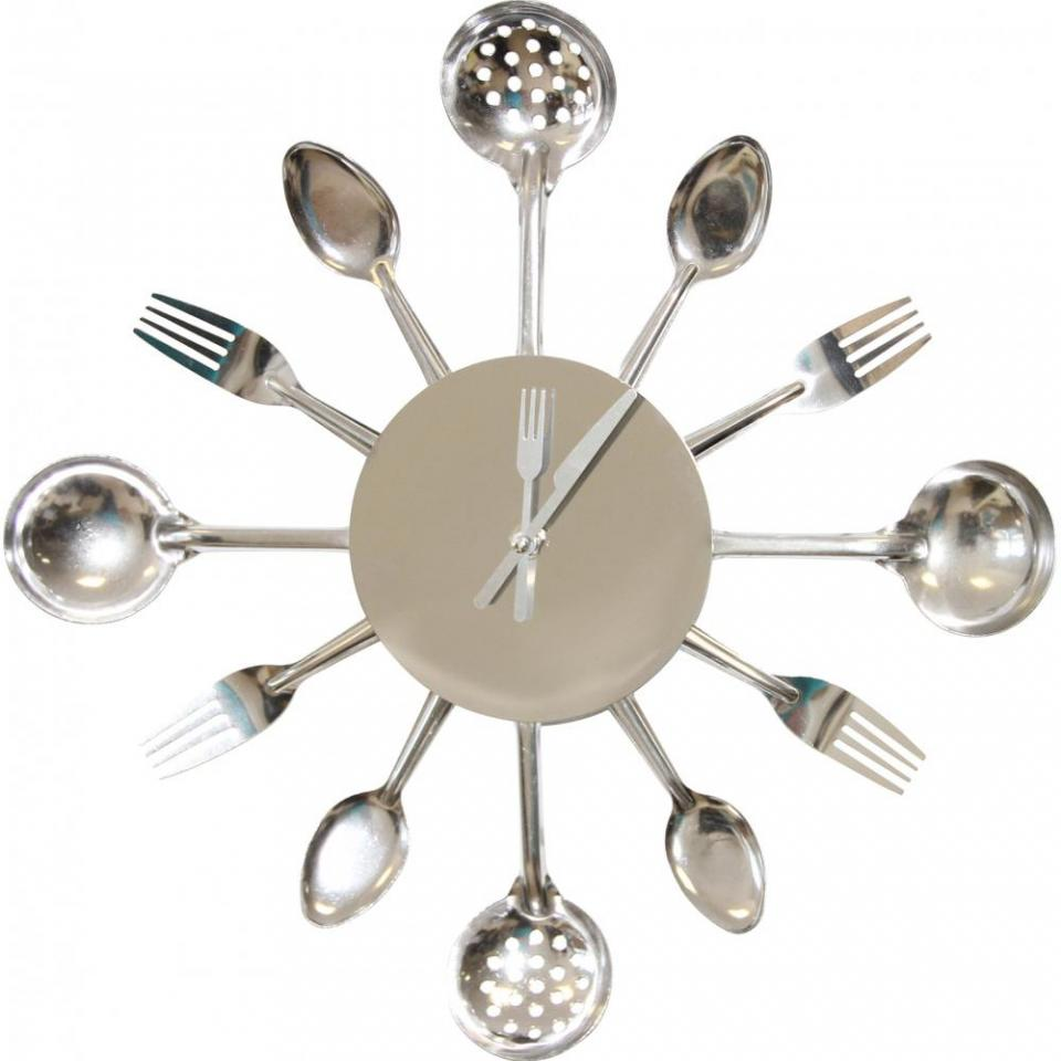 Affordable horloge murale cuisine argent with horloge for Horloge murale cuisine rouge
