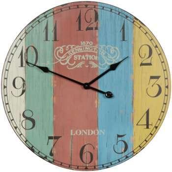 Cat gorie horloges pendule et comtoise page 7 du guide et comparateur d 39 achat for Horloge murale multicolore