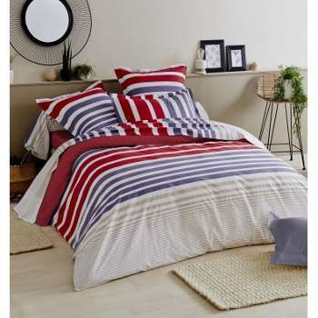 blanc parure de lit percale majorelle des vosges caram. Black Bedroom Furniture Sets. Home Design Ideas