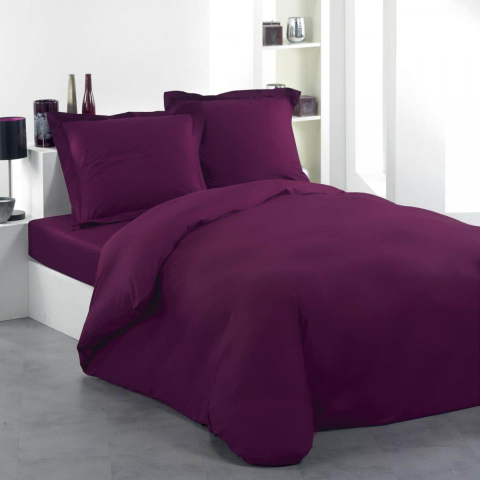douceur chousse de couette violette 240x220 dint rieur. Black Bedroom Furniture Sets. Home Design Ideas
