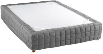cache sommier romantique with cache sommier romantique x cm couleur gris with cache sommier. Black Bedroom Furniture Sets. Home Design Ideas