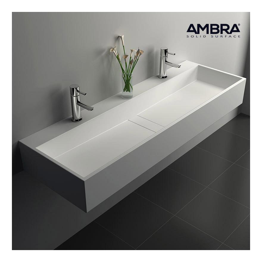 ambra vasque poser ronde 50 cm en composite blanc bo. Black Bedroom Furniture Sets. Home Design Ideas