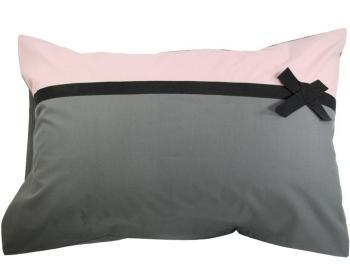 tradilinge parure de lit frou frou anthracite 220x240. Black Bedroom Furniture Sets. Home Design Ideas