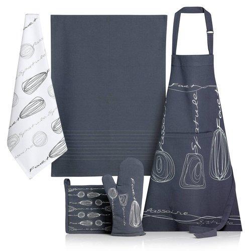 Homemaison rideau fantaisie a impressions argentes for Tablier cuisine fantaisie