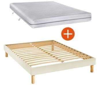 sommier tapissier kit gris 14 cm 160 x 200 cm. Black Bedroom Furniture Sets. Home Design Ideas