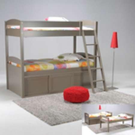 lit estrade 90x190 portes