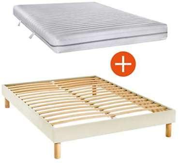 sommier tapissier kit beige 14 cm 140 x 190 cm. Black Bedroom Furniture Sets. Home Design Ideas