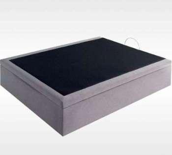 lit coffre en kit coloris gris. Black Bedroom Furniture Sets. Home Design Ideas
