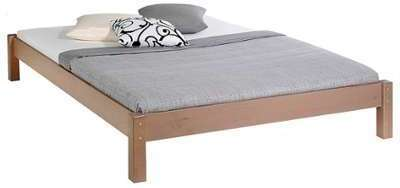 lit mathilda 140 x 190 cm merisier. Black Bedroom Furniture Sets. Home Design Ideas
