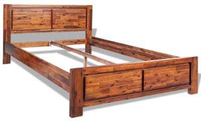 Catgorie lits adultes page 4 du guide et comparateur d 39 achat - Cadre de lit en bois massif ...