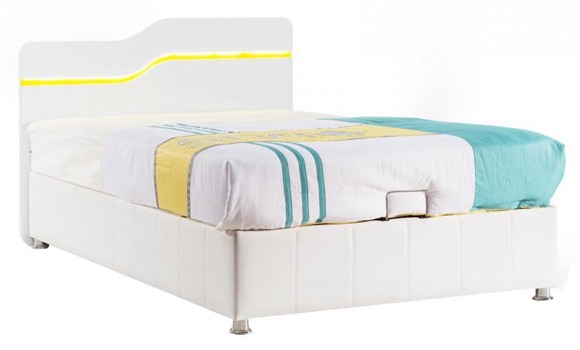 lit coffre elphege 160x200cm blanc. Black Bedroom Furniture Sets. Home Design Ideas