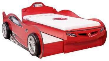 lit voiture enfant junior rouge. Black Bedroom Furniture Sets. Home Design Ideas