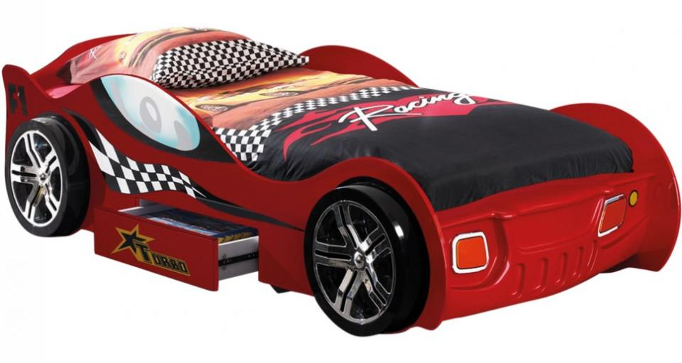 someo lit enfant voiture le mans rouge 90x200. Black Bedroom Furniture Sets. Home Design Ideas