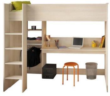 lit sur lev rose avec bureau armoire et sommier mod le vera pack lit pour enfant comprenant. Black Bedroom Furniture Sets. Home Design Ideas
