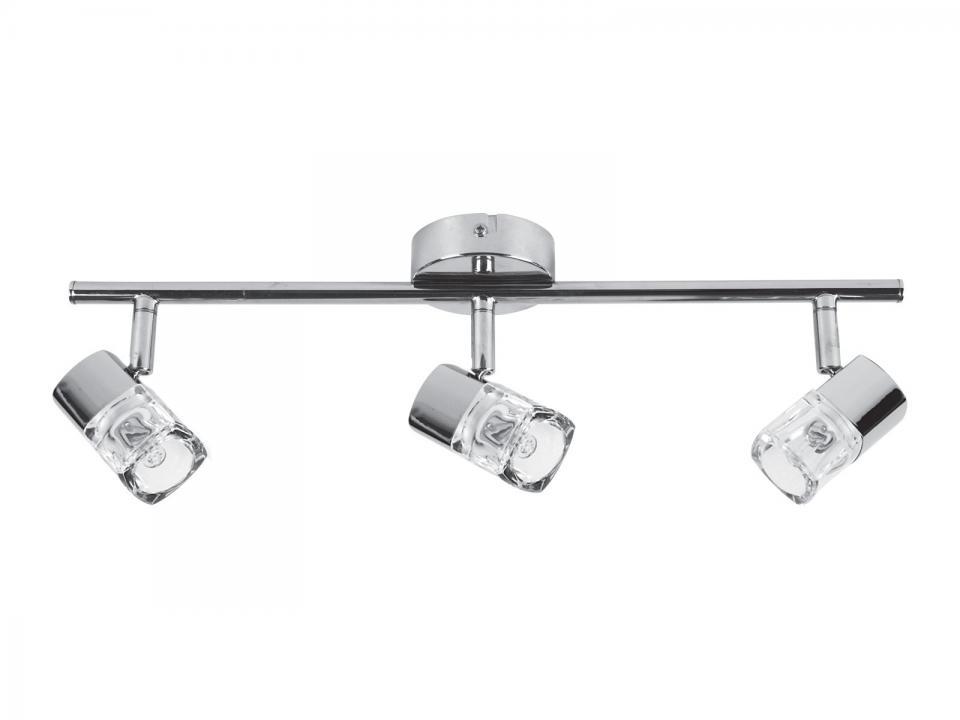 faro barre triple spots led orientables et inclinables en mtal longueur ring blanc. Black Bedroom Furniture Sets. Home Design Ideas